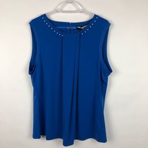 Karl Lagerfeld Royal Blue Sleeveless Top  XL NWT